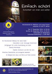 Einladung be cause-Wochenende 2016 - Schönstattbewegung Mädchen/Junge Frauen Österreich - MJF Österreich