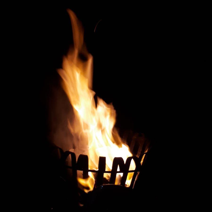 Feuer bei der Bündnisfeier