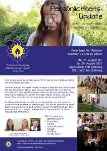 Ferienlager für Mädchen zwischen 13 und 15 Jahren, 2017 - Schönstatt MJF Österreich